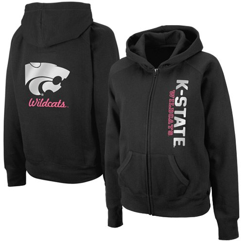 NCAA Kansas State Wildcats Ladies Charm Full Zip Hoodie - Black (Small) Amazon.com