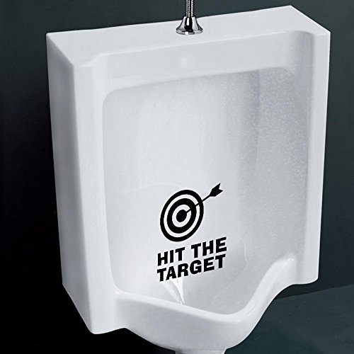 Aiwall T-012 HIT THE TARGET Decal BATHROOM TOILET Potty SEAT Boys Training Target