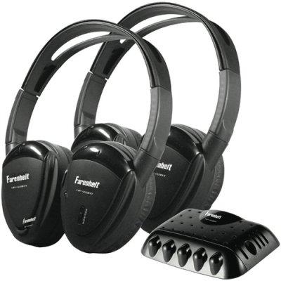 Pair Power Acoustik Hp22Irt Wireless Headphones W/ Ir Transmitter Hp-22Irt