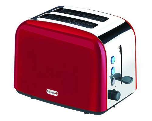 Breville VTT201 Red Stainless Steel 2 Slice Toaster by Breville