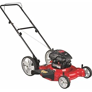 Yard Machines 11A-B04E000 21-Inch 158Cc Briggs & Stratton Mulch/Side Discharge Gas Powered Push Lawn Mower With High Rear Wheels