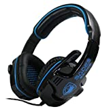 Sades SA-708 Gaming Stereo Headset Headphone Earphones with Mic For PC Laptop Notebook WCG CS WOW LOL Game Accessory Bule