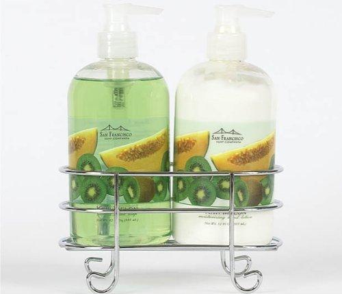 san-francisco-soap-company-hand-lotion-and-soap-caddy-set-kiwi-melon-by-san-francisco-soap-company