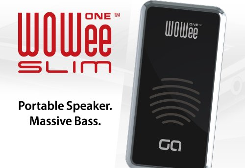 Wowee One Slim Portable Speaker For Ipad, Iphone, Mp3 Players, Laptops, Mobile Phones, Personal Game Systems (Black/Chrome)