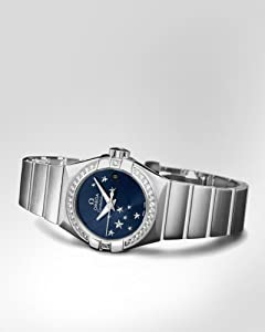 Omega Constellation Chronometer Star Blue Dial Stainless Steel Ladies Watch 12315272003001