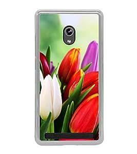 Tulips 2D Hard Polycarbonate Designer Back Case Cover for Asus Zenfone 6 A600CG
