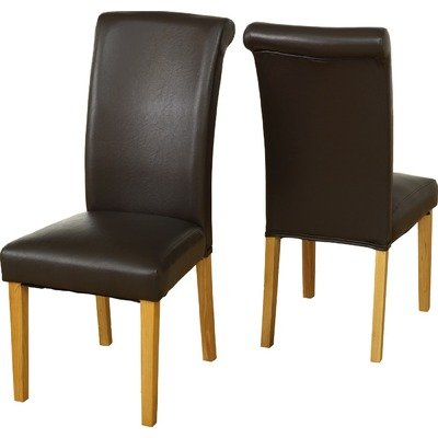 Oak And Faux Leather Dunoon Faux Leather Dining Chair