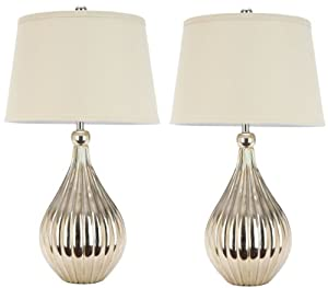 price safavieh lighting collection lina gold table lamps set of 2. Black Bedroom Furniture Sets. Home Design Ideas