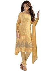 Dhruta Creation yallow colors cotton febric semi stitched Dress materials for women