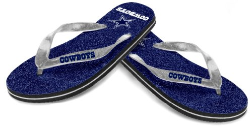 Dallas Cowboys Women's NFL Thong Flip Flop Glitter Slippers at Amazon.com