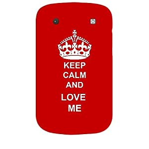Skin4gadgets Keep Calm and LOVE ME - Colour - Red Phone Skin for BLACKBERRY BOLD 9900