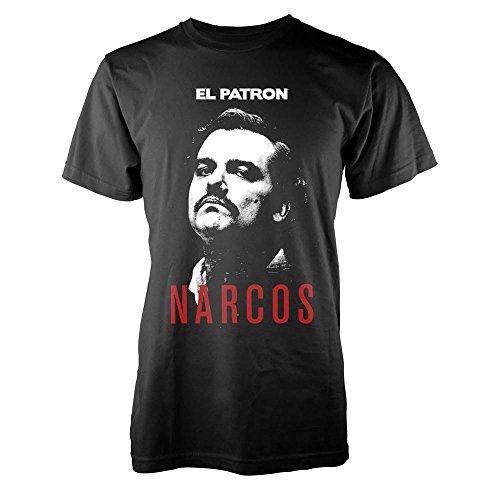 Plastic Head Narcos Godfather, T-Shirt Uomo, Nero (Black), X-Large