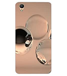 ColourCraft Water Drops Design Back Case Cover for OPPO F1 PLUS