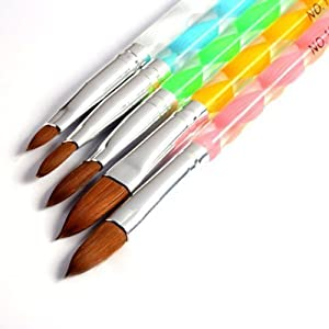 350buy 5pcs Acrylic Nail Art UV Gel Carving Pen Brush Liquid Powder DIY No. 2/4/6/8/10