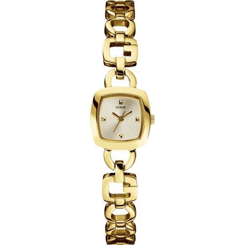Guess W75057L1 - Reloj analógico de cuarzo para mujer con correa de acero inoxidable, color dorado