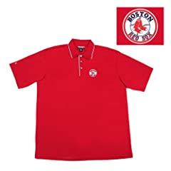 Boston Red Sox Mlb Superior Polo Shirt (Dark Red) by Antigua