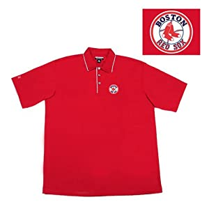 Boston Red Sox Mlb Superior Polo Shirt (Dark Red) (2X-Large) by Antigua