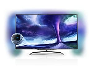 Philips 40PFL8008S/12 102 cm (40 Zoll) Ambilight 3D-LED-Backlight-Fernseher, EEK A (Full HD, 1400Hz PMR, DVB-T/C/S2, CI+, Smart TV, WiFi) anthrazit