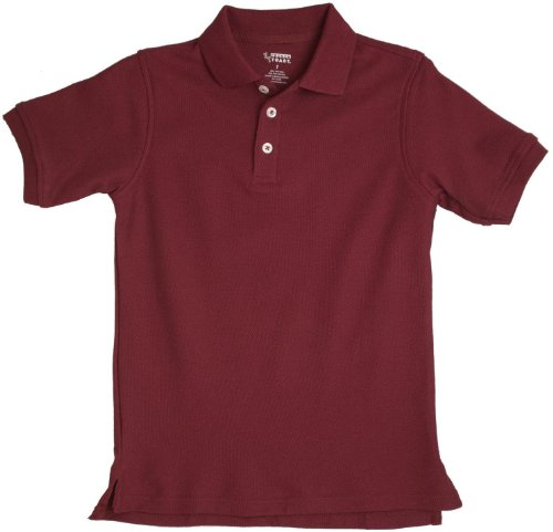 French toast school uniform boys short sleeve pique polo Burgundy polo shirt boys