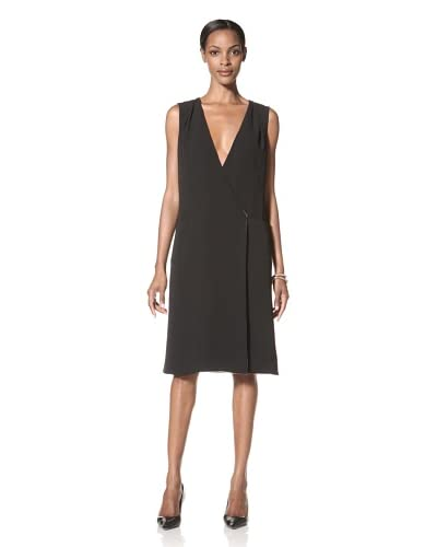 Giorgio Armani Women's Silk Wrap Dress  [Black]