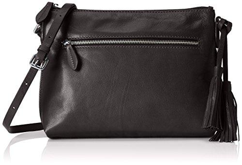 Clarks Tabley Park - Borse a Tracolla Donna, Nero (Black Leather), 32x21x6 cm (B x H x T)