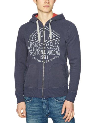 Replay M3055 Men's Sweatshirt Dark Blue Small