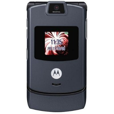 Motorola RAZR V3 Unlocked Phone with Camera, and Video Player–International Version with No Warranty (Gun Metal Gray)