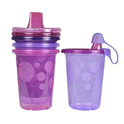 The First Years Spill Proof Sippy Cup, Pink Take And Toss, 10 Ounce, 4 Count By The First Years