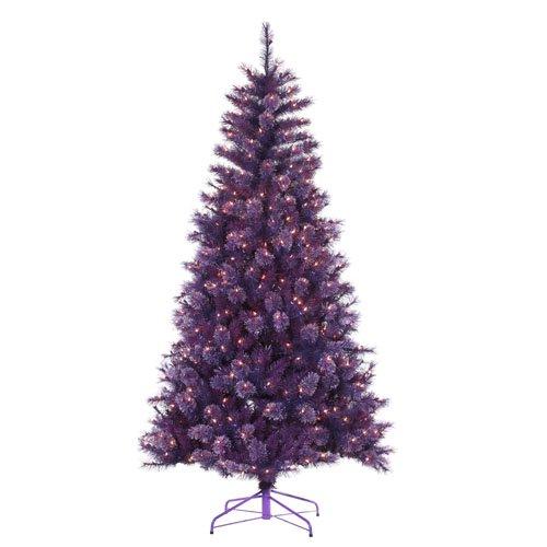 artificial christmas tree purple lights the christmas tree store