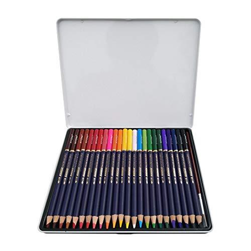 Watercolor Pencils Premium Soft Core Watercolor Pencils 12 24 36 48 72 Lapis de cor Professional Water Soluble Color Pencil for Art School Supplies (24 Color Set) (Tamaño: 24 color set)