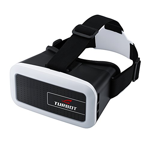 Turbot VR Virtual Reality Headsets 3D Glasses with Adjustable Head Straps For 3D Movies and Games