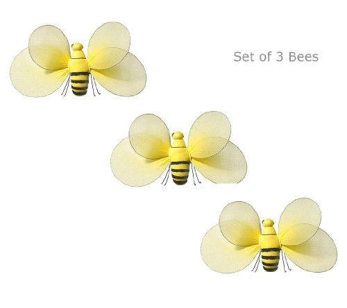 3Pcs Set Bumble Bee For Butterfly Garden Decorations Baby Nursery Décor Girls Bedroom Decorations