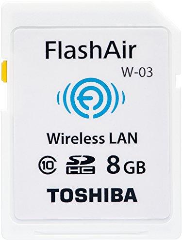 TOSHIBA 無線LAN搭載 FlashAir SDHCカード 8GB Class10 日本製 (国内正規品) SD-WE008G