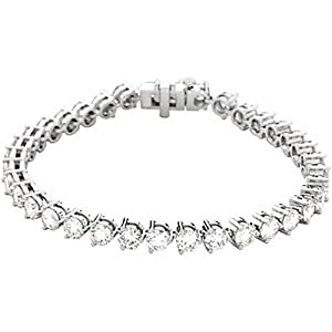 18K White Gold Diamond Tennis Bracelet - 12.00 Ct. -- LIFETIME WARRANTY