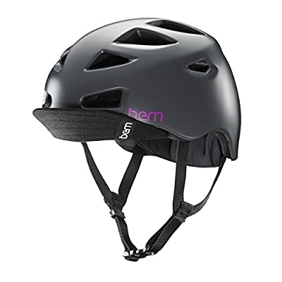 Bern Womens Melrose Zip Mold Satin Charcoal Grey Bike Helmet VW7SCHV XS Small from Bern