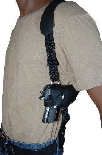 Barsony Black Leather Shoulder Holster for Mini-Pocket 22 25 .380 Pistols from Barsony Holsters and Belts