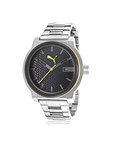 Puma Men's Elements Black Stainless Steel Watch