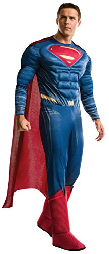 Rubie's Men's Batman v Superman: Dawn of Justice Deluxe Superman Costume - up to XL