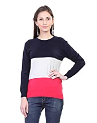 Kalt Women's Cotton Sweater(W114 L_Multicoloured_Large)