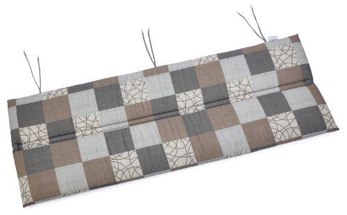Kettler 0309011-8713 Auflage für Bank 120 x 47 x 3 cm (Nur Sitzfläche), für textil-bezogene Aluminium-Gartenmöbel, braun / mocca Töne