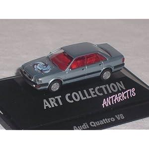 AUDI QUATTRO 100 V8 SILBER GRAU 1/87 HERPA MODELLAUTO MODEL AUTO SONDERANGEBOT