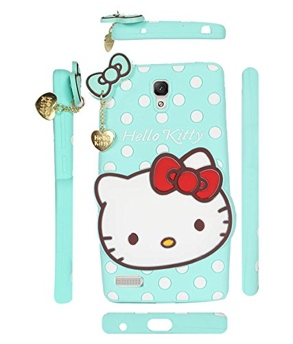 FUSON HELLO KITTY SOFT SILICON BACK CASE COVER FOR XIOMI REDMI NOTE-PISTA GREEN