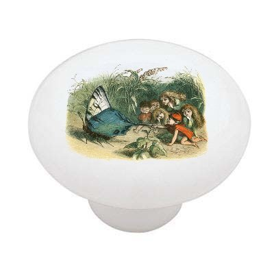 Giant Butterfly Decorative High Gloss Ceramic Drawer Knob front-1018520