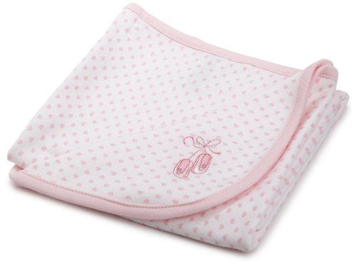 Little Me Baby-girls Newborn Prima Ballerina Tag Along Blanket, White/Pink, One Size