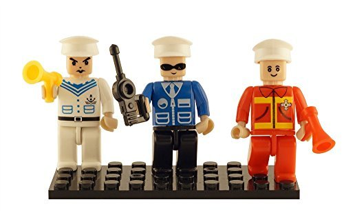 Brictek 3 Piece Building Block Figurine Set