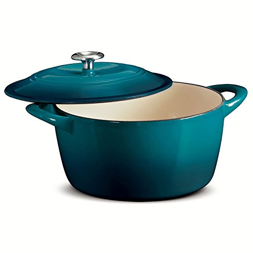 Tramontina 6.5 Quart Enameled Cast Iron Dutch Oven Teal (Small Green Dutch Oven compare prices)