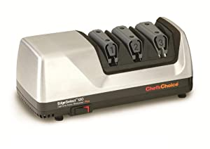 Chef's Choice M120 Diamond Hone Knife Sharpener, Brushed Metal