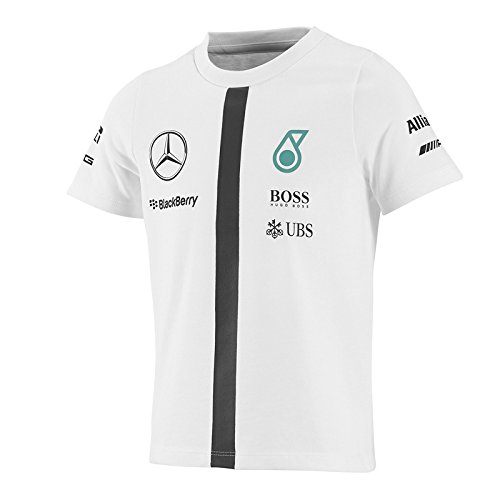 mercedes-amg-enfants-equipe-t-shirt-blanc-de-2015-116cm