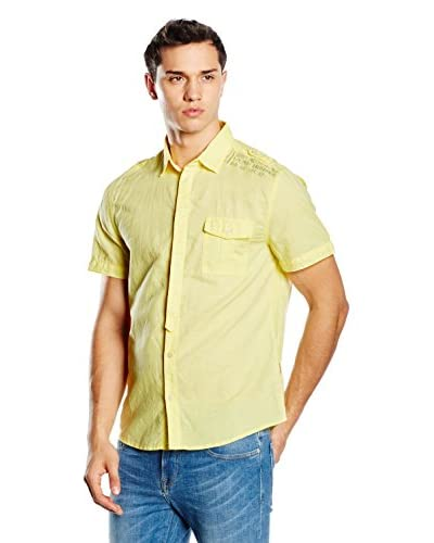 Guess Camisa Hombre Amarillo