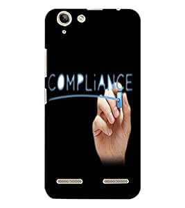 LENOVO K5 PLUS COMPLIANCE Back Cover by PRINTSWAG